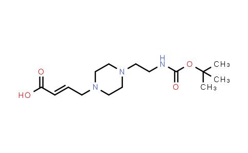1022150-13-5   2-Butenoic acid, 4-[4-[2-[[(1,1-dimethylethoxy)carbonyl]amino]ethyl]-1-piperazinyl]-