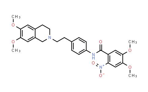 1024592-54-8 | Benzamide, N-[4-[2-(3,4-dihydro-6,7-dimethoxy-2(1H)-isoquinolinyl)ethyl]phenyl]-4,5-dimethoxy-2-nitro-