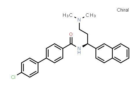 1025437-77-7   [1,1'-Biphenyl]-4-carboxamide, 4'-chloro-N-[(1S)-3-(dimethylamino)-1-(2-naphthalenyl)propyl]-