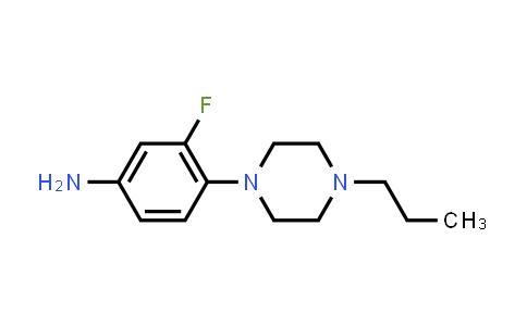 1026156-06-8 | 3-Fluoro-4-(4-propylpiperazin-1-yl)aniline