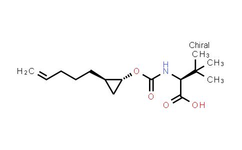 1026200-27-0 | L-Valine, 3-methyl-N-[[[(1R,2R)-2-(4-penten-1-yl)cyclopropyl]oxy]carbonyl]-
