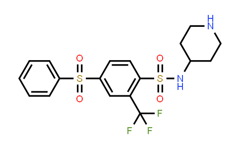 1027007-64-2   Benzenesulfonamide, 4-(phenylsulfonyl)-N-4-piperidinyl-2-(trifluoromethyl)-