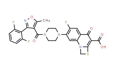1027327-15-6   1H,4H-[1,3]Thiazeto[3,2-a]quinoline-3-carboxylic acid, 7-[4-[[3-(2,6-difluorophenyl)-5-methyl-4-isoxazolyl]carbonyl]-1-piperazinyl]-6-fluoro-4-oxo-