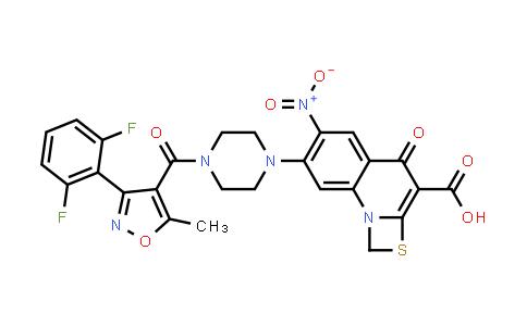 1027327-16-7 | 1H,4H-[1,3]Thiazeto[3,2-a]quinoline-3-carboxylic acid, 7-[4-[[3-(2,6-difluorophenyl)-5-methyl-4-isoxazolyl]carbonyl]-1-piperazinyl]-6-nitro-4-oxo-