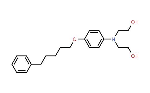 102759-44-4 | 2,2'-((4-((5-Phenylpentyl)oxy)phenyl)azanediyl)bis(ethan-1-ol)