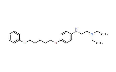 102813-41-2 | N1,N1-Diethyl-N2-(4-((5-phenoxypentyl)oxy)phenyl)ethane-1,2-diamine