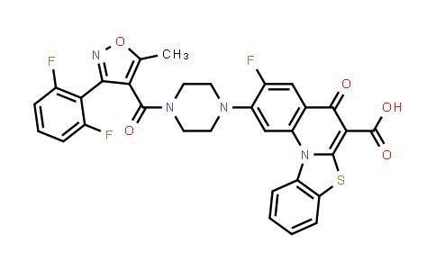1028202-96-1 | 5H-Benzothiazolo[3,2-a]quinoline-6-carboxylic acid, 2-[4-[[3-(2,6-difluorophenyl)-5-methyl-4-isoxazolyl]carbonyl]-1-piperazinyl]-3-fluoro-5-oxo-