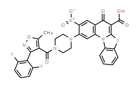 1028202-97-2 | 5H-Benzothiazolo[3,2-a]quinoline-6-carboxylic acid, 2-[4-[[3-(2,6-difluorophenyl)-5-methyl-4-isoxazolyl]carbonyl]-1-piperazinyl]-3-nitro-5-oxo-