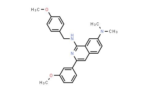 1029009-61-7 | N1-(4-methoxybenzyl)-3-(3-methoxyphenyl)-N7,N7-dimethylisoquinoline-1,7-diamine