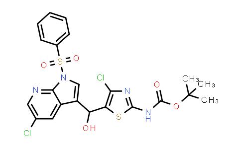 1029052-67-2 | Carbamic acid, N-[4-chloro-5-[[5-chloro-1-(phenylsulfonyl)-1H-pyrrolo[2,3-b]pyridin-3-yl]hydroxymethyl]-2-thiazolyl]-, 1,1-dimethylethyl ester