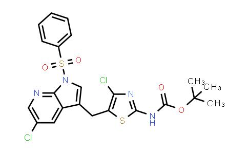 1029052-68-3 | Carbamic acid, N-[4-chloro-5-[[5-chloro-1-(phenylsulfonyl)-1H-pyrrolo[2,3-b]pyridin-3-yl]methyl]-2-thiazolyl]-, 1,1-dimethylethyl ester