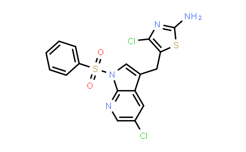 1029052-69-4   2-Thiazolamine, 4-chloro-5-[[5-chloro-1-(phenylsulfonyl)-1H-pyrrolo[2,3-b]pyridin-3-yl]methyl]-