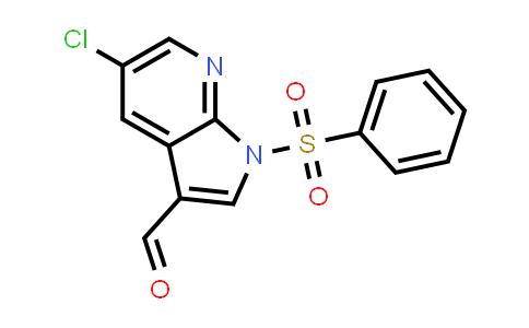 1029052-72-9   1H-Pyrrolo[2,3-b]pyridine-3-carboxaldehyde, 5-chloro-1-(phenylsulfonyl)-