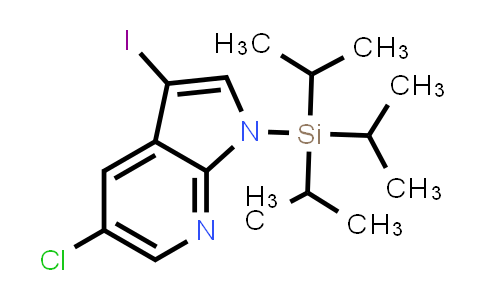 1029053-13-1 | 5-chloro-3-iodo-1-(triisopropylsilyl)-1H-pyrrolo[2,3-b]pyridine