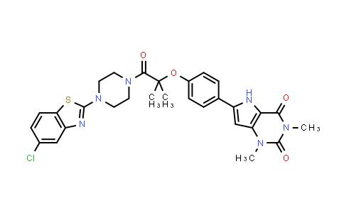 1029401-88-4   1H-Pyrrolo[3,2-d]pyrimidine-2,4(3H,5H)-dione, 6-[4-[2-[4-(5-chloro-2-benzothiazolyl)-1-piperazinyl]-1,1-dimethyl-2-oxoethoxy]phenyl]-1,3-dimethyl-