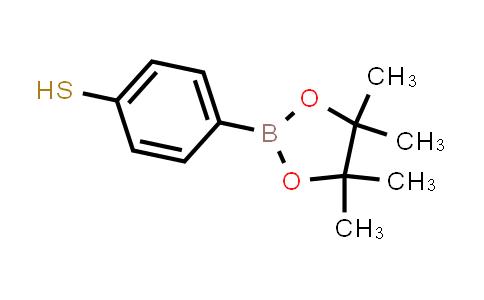 1029438-23-0 | 4-(4,4,5,5-Tetramethyl-1,3,2-dioxaborolan-2-yl)benzenethiol