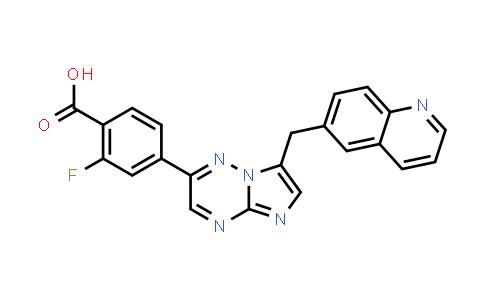 1029714-88-2   2-Fluoro-4-[7-[(quinolin-6-yl)methyl]imidazo[1,2-b][1,2,4]triazin-2-yl]benzoic acid