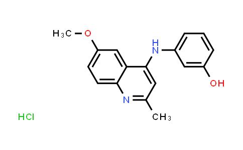 1030018-99-5 | 3-((6-Methoxy-2-methylquinolin-4-yl)amino)phenol hydrochloride