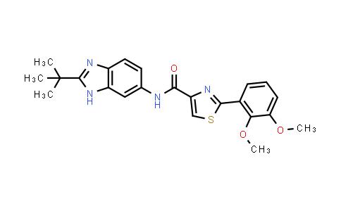 1030222-86-6 | N-(2-(tert-Butyl)-1H-benzo[d]imidazol-6-yl)-2-(2,3-dimethoxyphenyl)thiazole-4-carboxamide