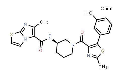 1030388-83-0 | Imidazo[2,1-b]thiazole-5-carboxamide, 6-methyl-N-[(3R)-1-[[2-methyl-5-(3-methylphenyl)-4-thiazolyl]carbonyl]-3-piperidinyl]-