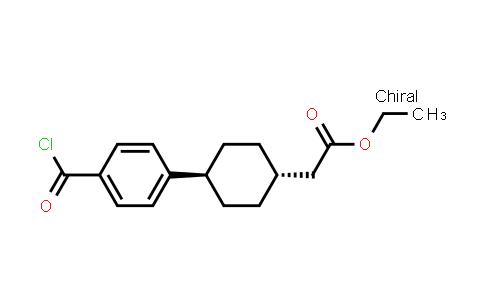 1031336-68-1 | Cyclohexaneacetic acid, 4-[4-(chlorocarbonyl)phenyl]-, ethyl ester, trans-