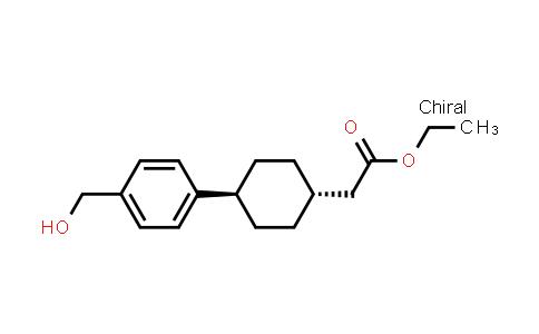 1031336-84-1   Cyclohexaneacetic acid, 4-[4-(hydroxymethyl)phenyl]-, ethyl ester, trans-