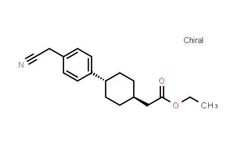 1031336-85-2   Cyclohexaneacetic acid, 4-[4-(cyanomethyl)phenyl]-, ethyl ester, trans-
