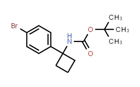 1032350-06-3 | tert-Butyl 1-(4-bromophenyl)cyclobutylcarbamate