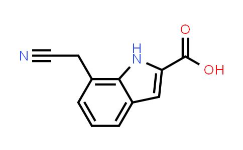 1032715-55-1 | 7-(Cyanomethyl)-1H-indole-2-carboxylic acid