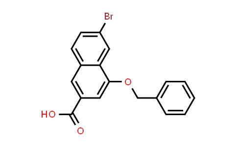 1032744-66-3 | 2-Naphthalenecarboxylic acid, 6-bromo-4-(phenylmethoxy)-