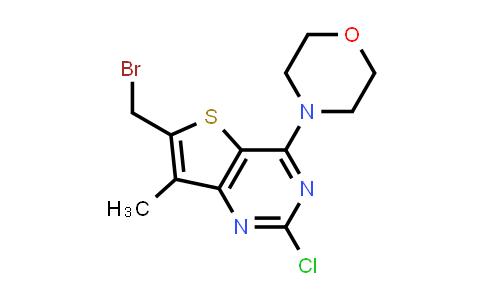 1032758-45-4 | 4-(6-(Bromomethyl)-2-chloro-7-methylthieno[3,2-d]pyrimidin-4-yl)morpholine