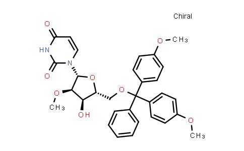 103285-22-9 | 1-[(2R,3R,4R,5R)-5-[[Bis(4-methoxyphenyl)-phenylmethoxy]methyl]-4-hydroxy-3-methoxyoxolan-2-yl]pyrimidine-2,4-dione