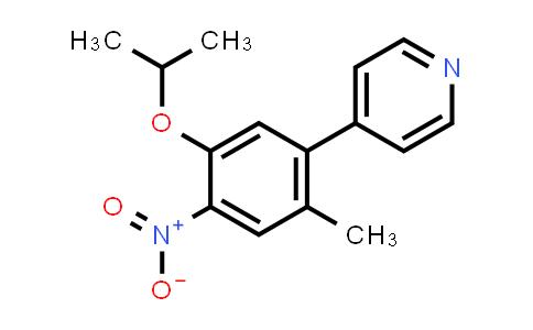1032903-62-0 | 4-(5-Isopropoxy-2-methyl-4-nitrophenyl)pyridine