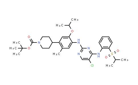 1032903-64-2 | 4-[4-[[5-Chloro-4-[[2-[(propan-2-yl)sulfonyl]phenyl]amino]pyrimidin-2-yl]amino]-5-isopropoxy-2-methylphenyl]piperidine-1-carboxylic acid tert-butyl ester