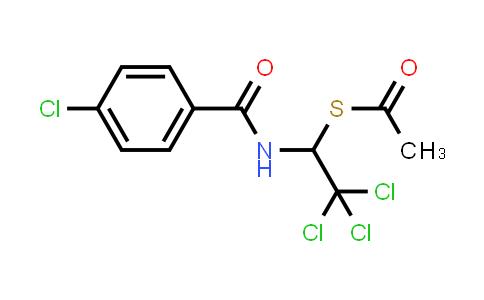 1033204-45-3 | Ethanethioic acid, S-[2,2,2-trichloro-1-[(4-chlorobenzoyl)amino]ethyl] ester