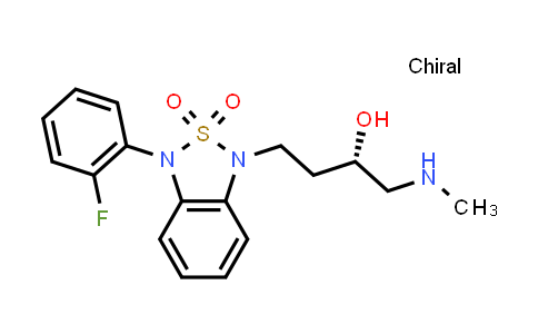 1033214-90-2   2,1,3-Benzothiadiazole-1(3H)-propanol, 3-(2-fluorophenyl)-α-[(methylamino)methyl]-, 2,2-dioxide, (αS)-