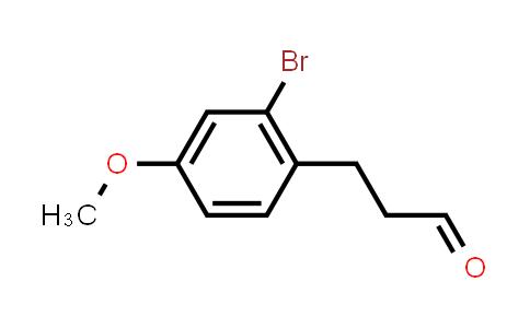 1033221-02-1 | Benzenepropanal, 2-bromo-4-methoxy-