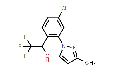 1033805-20-7   4-Chloro-2-(3-methyl-1H-pyrazol-1-yl)-α-(trifluoromethyl)benzenemethanol