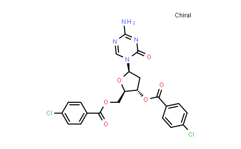1034301-08-0   4-Amino-1-[3,5-bis-O-(4-chlorobenzoyl)-2-deoxy-β-D-erythro-pentofuranosyl]-1,3,5-triazin-2(1H)-one