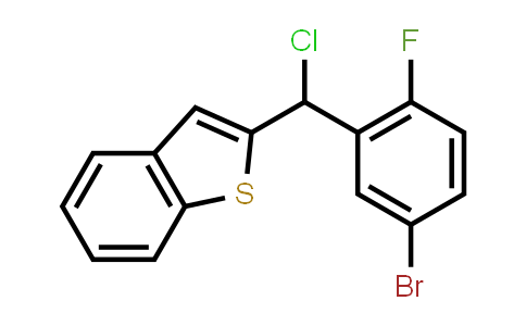 1034305-19-5 | Benzo[b]thiophene, 2-[(5-bromo-2-fluorophenyl)chloromethyl]-