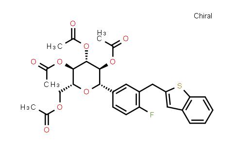 1034305-21-9 | (1S)-1,5-Anhydro-1-C-[3-(benzo[b]thien-2-ylMethyl)-4-fluorophenyl]-D-glucitol 2,3,4,6-tetraacetate