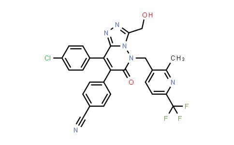 1034414-38-4 | Benzonitrile, 4-[8-(4-chlorophenyl)-5,6-dihydro-3-(hydroxymethyl)-5-[[2-methyl-6-(trifluoromethyl)-3-pyridinyl]methyl]-6-oxo-1,2,4-triazolo[4,3-b]pyridazin-7-yl]-