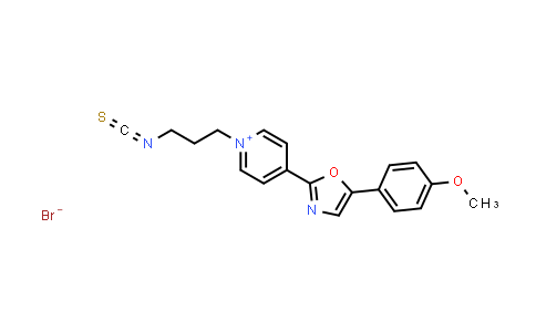 1034443-41-8   1-(3-Isothiocyanatopropyl)-4-(5-(4-methoxyphenyl)oxazol-2-yl)pyridin-1-ium bromide