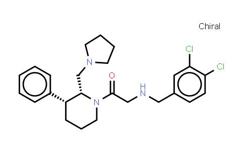 1034708-07-0 | Ethanone, 2-[(3,4-dichlorophenyl)methylamino]-1-[(2R,3R)-3-phenyl-2-(1-pyrrolidinylmethyl)-1-piperidinyl]-, rel-
