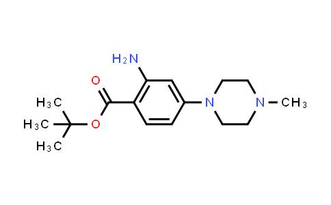 1034975-35-3   tert-Butyl 2-amino-4-(4-methylpiperazin-1-yl)benzoate
