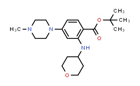 1034975-40-0 | tert-Butyl 4-(4-methylpiperazin-1-yl)-2-((tetrahydro-2H-pyran-4-yl)amino)benzoate