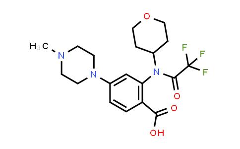 1034975-61-5 | 4-(4-Methylpiperazin-1-yl)-2-[2,2,2-trifluoro-N-(oxan-4-yl)acetamido]benzoic acid