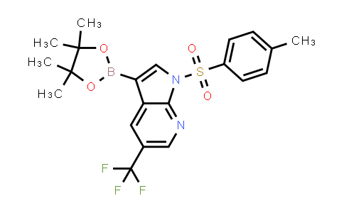 1036027-60-7   3-(4,4,5,5-Tetramethyl-1,3,2-dioxaborolan-2-yl)-1-tosyl-5-(trifluoromethyl)-1h-pyrrolo[2,3-b]pyridine