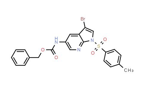 1036028-08-6 | Carbamic acid, N-[3-bromo-1-[(4-methylphenyl)sulfonyl]-1H-pyrrolo[2,3-b]pyridin-5-yl]-, phenylmethyl ester
