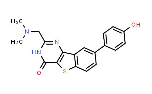 1036380-87-6 | [1]Benzothieno[3,2-d]pyrimidin-4(3H)-one, 2-[(dimethylamino)methyl]-8-(4-hydroxyphenyl)-